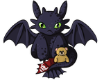 Teddy n Toothless by labrattish
