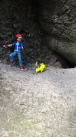Ash + Pikachu in: The Cave III by fumpenfoto