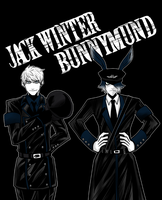 Jack Winter and Bunnymund by mikaeriksenweiseth