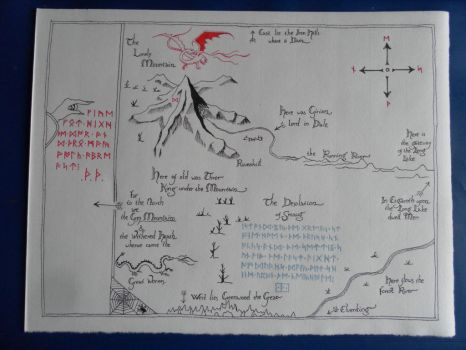 Thorin's Map by Tharjana