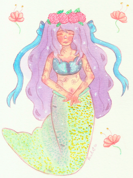 Flower Mermaid by Rawliet