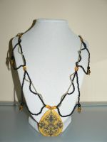 Necklace: Yellow and Black by allykat