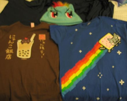 My Goodies From AWA :D by WolfKat777