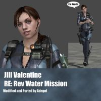Jill Valentine RERev Water Mission by Adngel