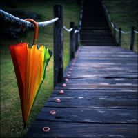 Rainbow umbrella part II by LadyAgnes