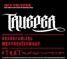 MCF_TRUEPER font by MisterChek