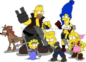 Final Fantasy Simpson by LaTopazora