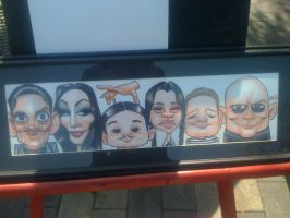 Adams family caricature by marcocano