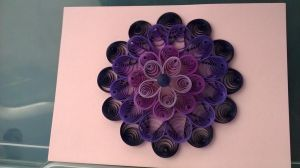 Purple quilled flower by Jenni1361