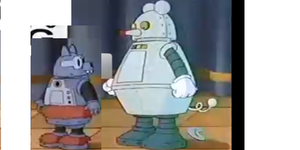 Tom and Jerry Kids Show RobotCat Vs. RobotMouse  by PapercraftKing