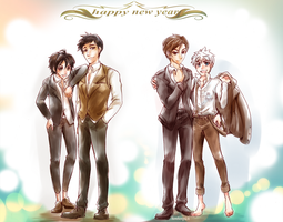 ROTG/BH6 fanart - Happy New Year 2015 by BonBonPich