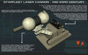 Laser Cannon Mid-23rd Century Tech Readout [New] by unusualsuspex