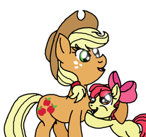 :.PC.: Apple Jack is best sister by 50shadesofPitchBlack