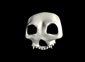 The skull mask by The--Grimreaper