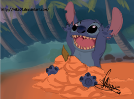 sketch of Stitch by Vika01