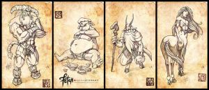 Chinese Zodiac_Set1 by FranciscoETCHART
