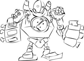 Blitzcrank doodle :b by ResoluteDawn