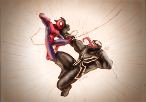 Spidey vs Venom by FrancoTieppo
