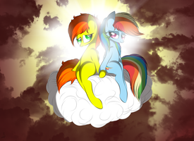 Lovers on a cloud by V-D-K