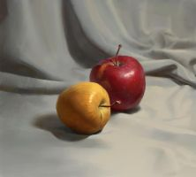 Still life with apples tutorial by Samarskiy