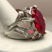 New Man Mad Ruby Stone Solid Sterling Silver Vine by JandSGems