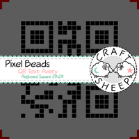 Pixel Beads QR-Code Text Avery 29x29 (Premium) by craftsheep