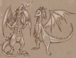 sum dragons by Basy-chan