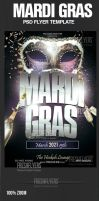 Mardi Gras Flyer Template by ImperialFlyers