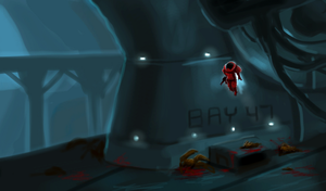 Space Soldier in Some Place by Jeffufu