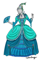 Water Nymph Rococo Dress Com by Captain-Savvy