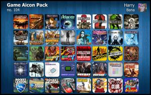 Game Aicon Pack 104 by HarryBana