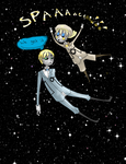 Sealand Space Core and England Wheatly in space by TheAwesomeNordics