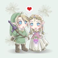 LinkXZelda:A Kawaii Legend by Nardhwen