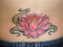 Lotus Tattoo by reniannen9