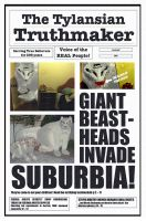 GIANT BEAST-HEADS INVADE SUBURBIA! by ManyardButler