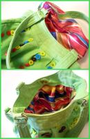 Upcycled Green Button Purse 3 by jloli