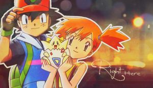 Pokeshipping Pokemon Ash and Misty Banner by ichigoluvsrukia