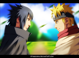 Naruto 699 - Sasuke is back to Konoha by StingCunha