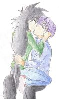 Iris and Trunks -- Art Trade by RoseMei