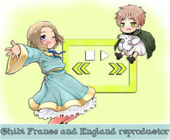 France and England Chibi Reproductor of music by Nekomimiarthur