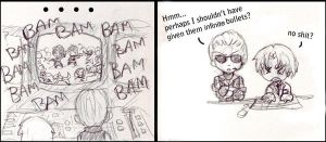 RE Funnies 1: Infinite bullets by I-heart-Link
