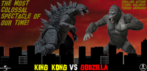 King Kong Vs Godzilla - English Poster by GIGAN05