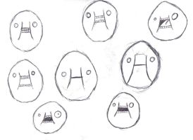 Scary Egg Faces by Gibson-the-mallrat