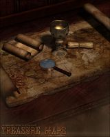 Treasure Map Props by cosmosue