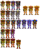 Samus suits by 117649-M-I
