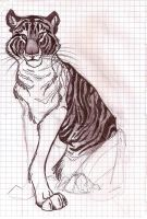 shool art Tiger by Mazakdupa