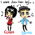 CLARA + BRUNO (Vocaloid-doodle) by xPiko-Chanx