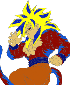 SSJ4 Fused With SSGSS by WOLFBLADE111