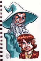 Gandalf and Bilbo by Chad73
