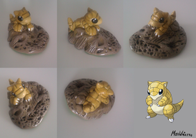 Sandshrew Sculpture by MeoWmatsu
